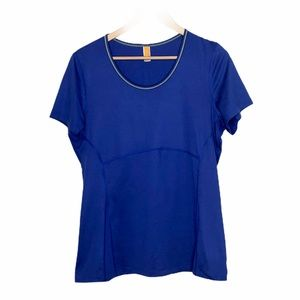 Lucy Short Sleeve Athletic Top Blue Size L